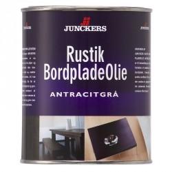 Junckers Rustik Bordpladeolie Antracitgrå 0,75 ltr.